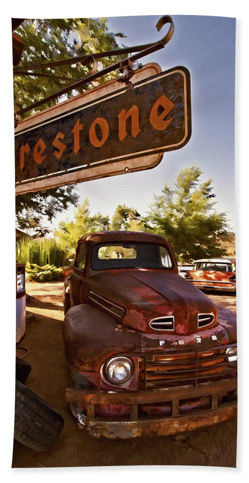 Ford Fever Hand Towel featuring the photograph Ford Fever by Priscilla Burgers