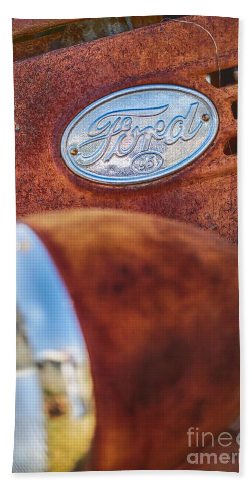 Ford Hand Towel featuring the photograph Ford Panel by Erika Weber