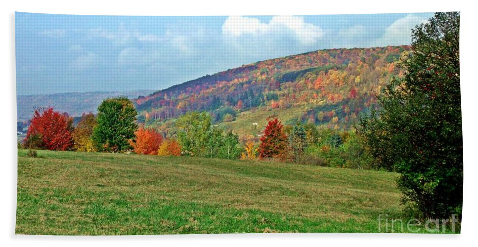 Western Ny State Hand Towel featuring the photograph Forest Of Fire by Christian Mattison