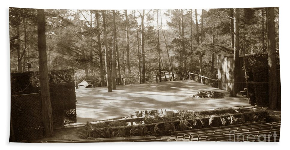 Forest Theater Bath Towel featuring the photograph Forest Theater Carmel California Circa 1930 by California Views Archives Mr Pat Hathaway Archives