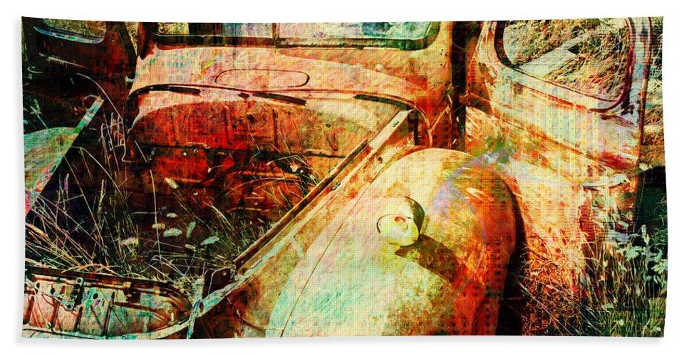 Forgotten Hand Towel featuring the digital art Forgotten by Barbara Berney