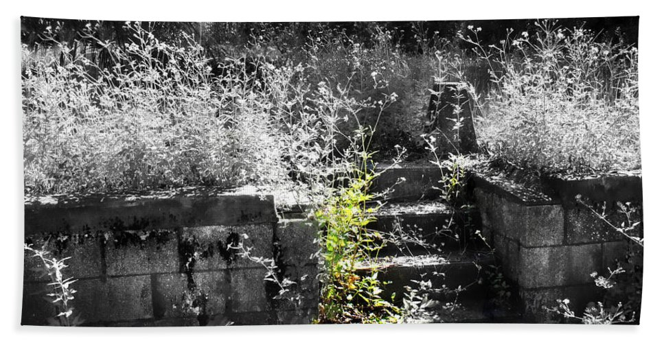 Cemetery Hand Towel featuring the photograph Forgotten by Debra Forand