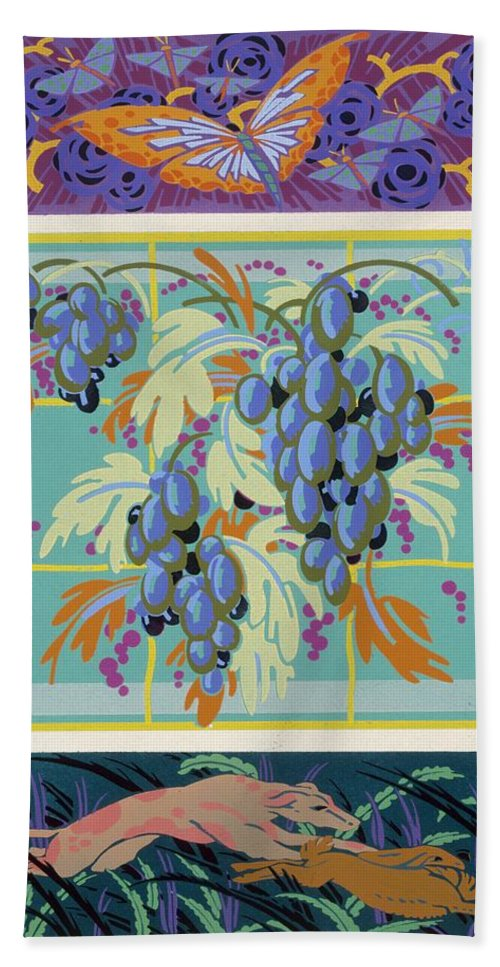 Design Hand Towel featuring the painting Formes Et Couleurs by Auguste H Thomas