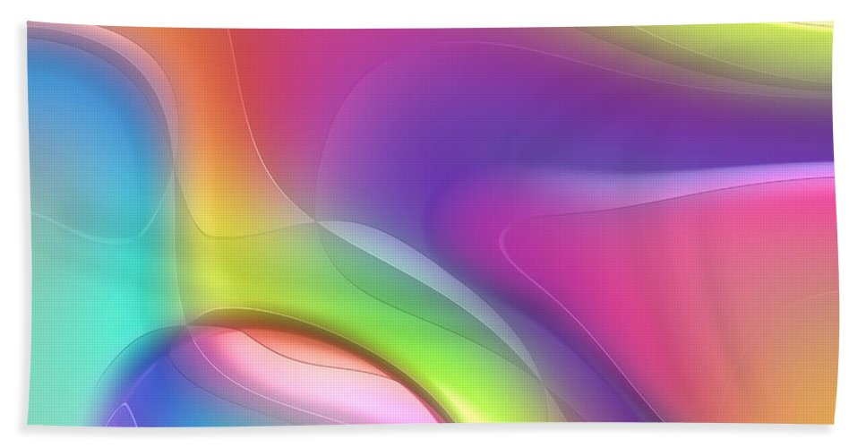 Forms Bath Sheet featuring the digital art Formes Lascive - 5464 by Variance Collections