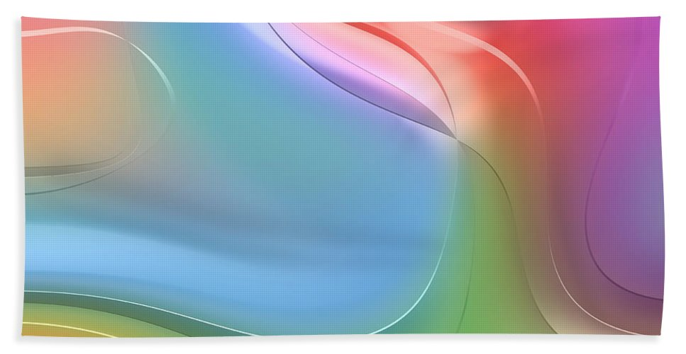 Forms Bath Sheet featuring the digital art Formes Lascive - 5469 by Variance Collections