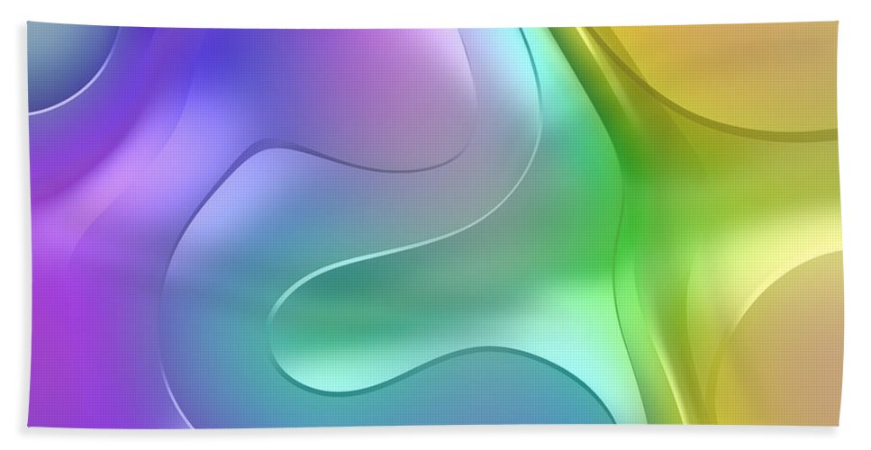 Forms Bath Sheet featuring the digital art Formes Lascives - 1114 by Variance Collections