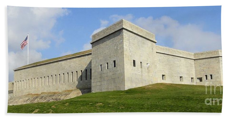 Fort Hand Towel featuring the photograph Fort Trumbull by Meandering Photography