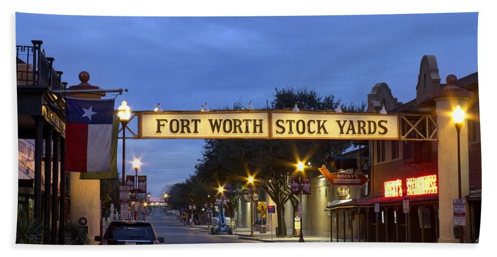 Texas Bath Sheet featuring the photograph Fort Worth Stockyards by Debby Richards