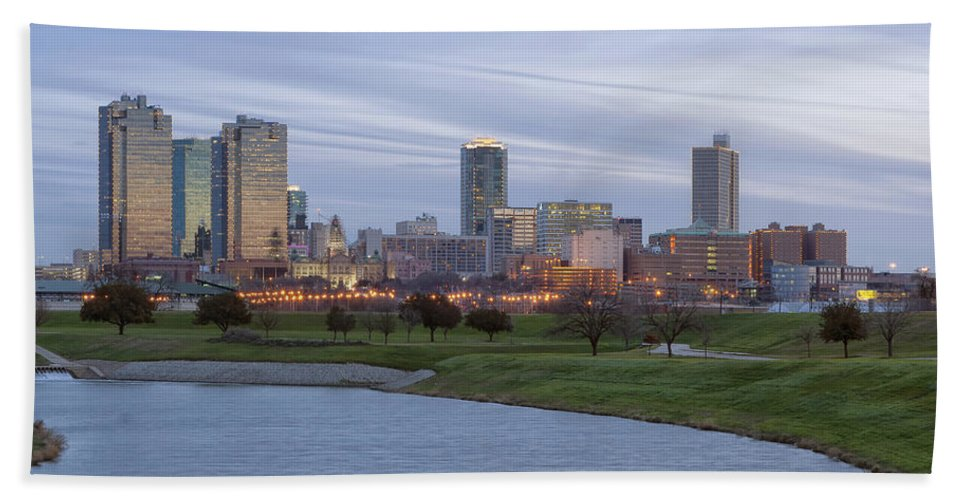 Fort Worth Bath Sheet featuring the photograph Fort Worth Texas by Debby Richards