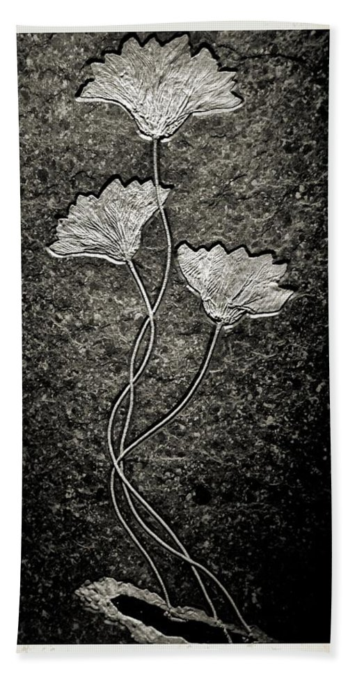Fossilized Flowers Bath Towel featuring the photograph Fossilized Flowers by Dan Sproul