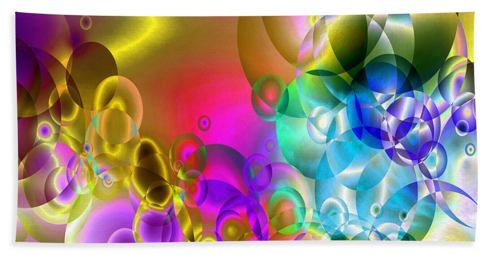 Abstract Hand Towel featuring the digital art Found 2 by Angelina Vick