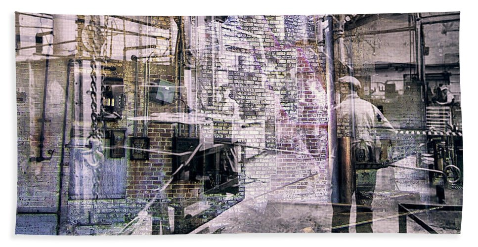 Foundry Bath Sheet featuring the photograph Foundry Workers by Dominic Piperata