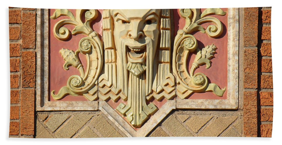 Fox Theater Hand Towel featuring the photograph Fox Gargoyle 02 by Sylvia Thornton