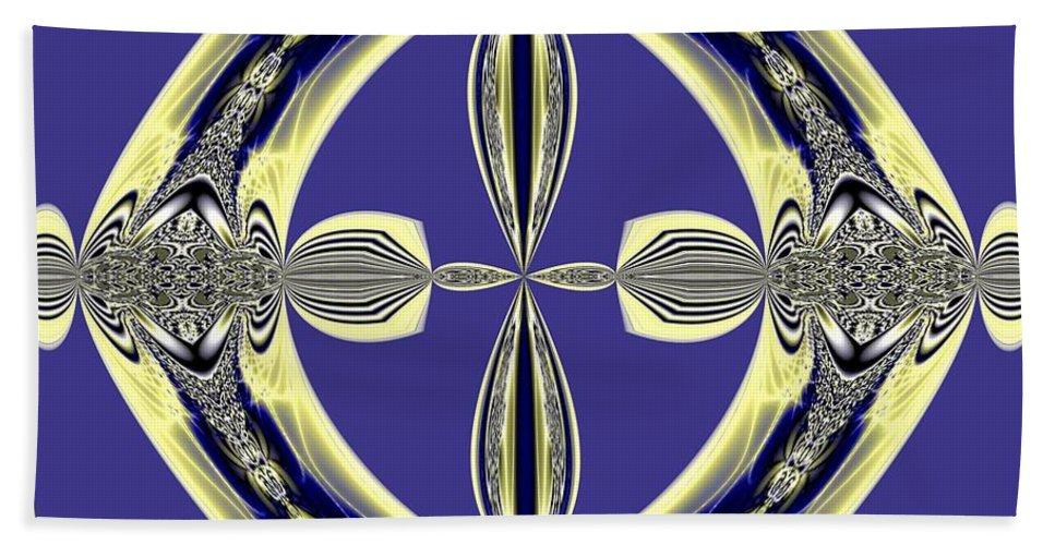 Fractal 008 Bath Sheet featuring the digital art Fractal 008 by Maria Urso