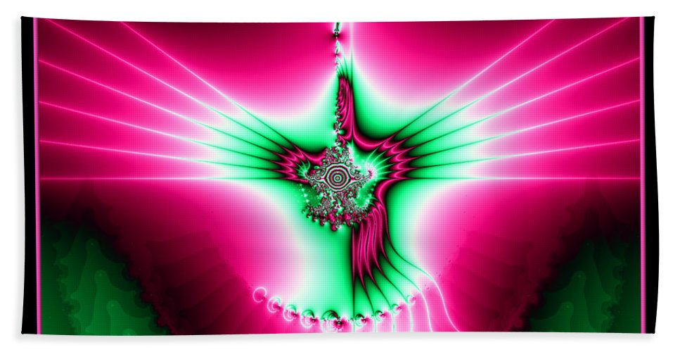 Holy Spirit Hand Towel featuring the digital art Fractal 11 Holy Spirit by Rose Santuci-Sofranko