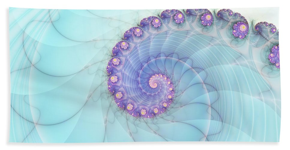 Fractal Hand Towel featuring the digital art Fractal 17 by Lena Auxier
