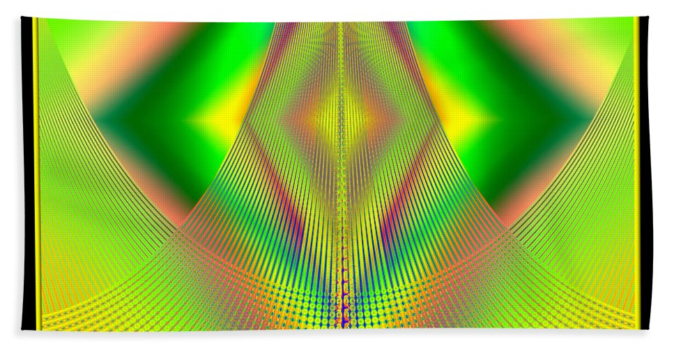 Mountains Hand Towel featuring the digital art Fractal 32 Up Up And Away by Rose Santuci-Sofranko