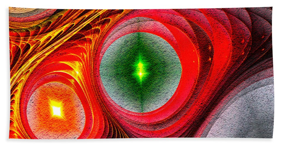 Fractal Bath Sheet featuring the photograph Fractal 86 by Donna Lee