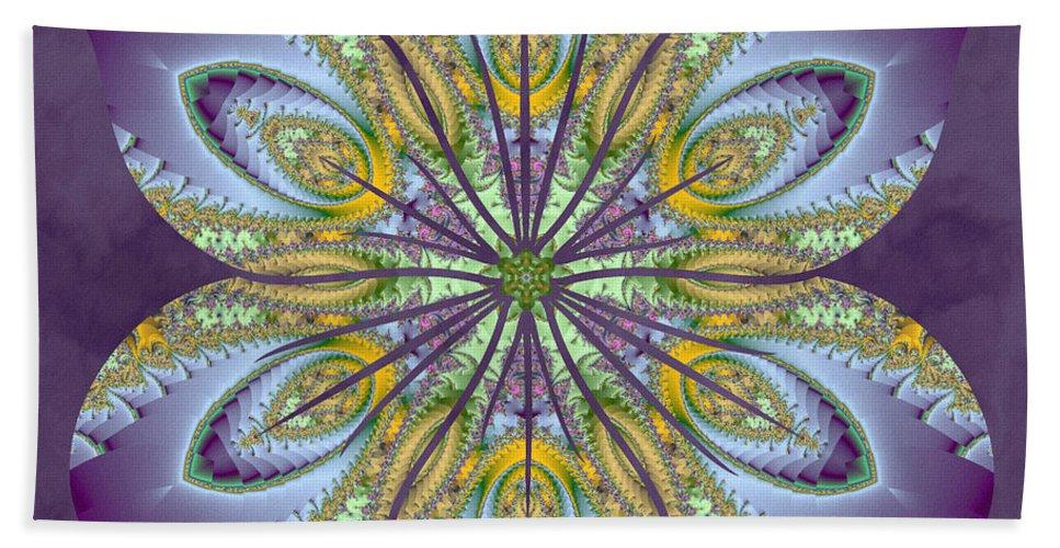 Sacredlife Mandalas Bath Sheet featuring the digital art Fractal Blossom by Derek Gedney