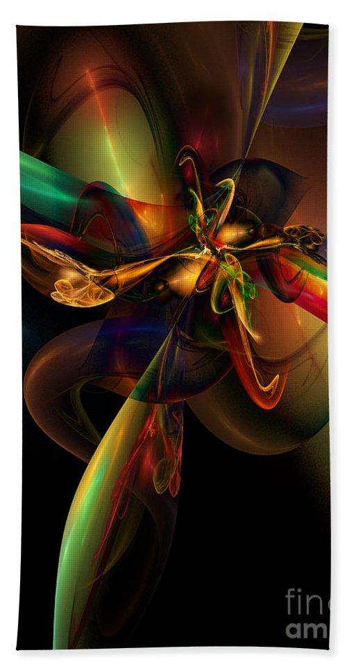 Fractal Hand Towel featuring the digital art Fractal Composition by Klara Acel