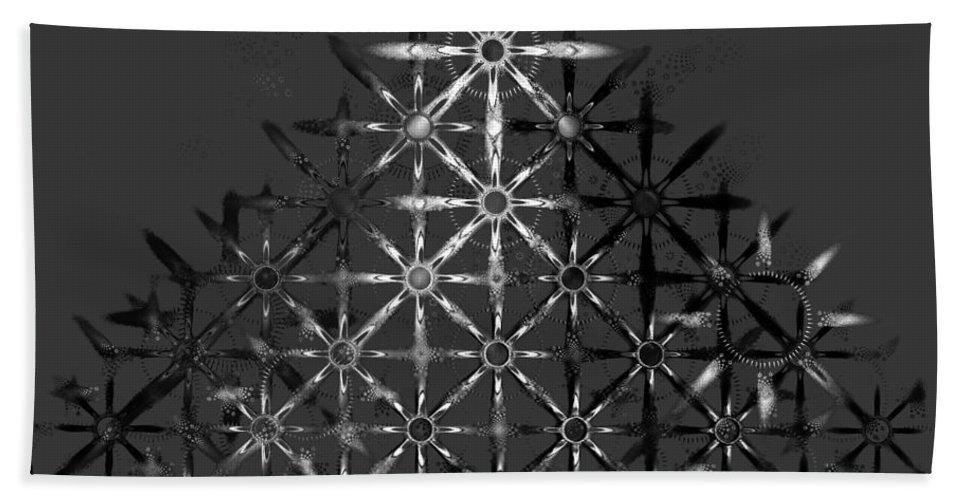 Fractal Hand Towel featuring the digital art Fractal Flakes by GJ Blackman