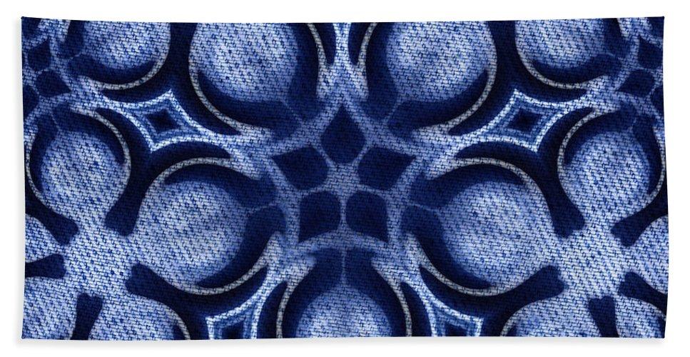 Artmatic Hand Towel featuring the digital art Fractal Floral Pattern by Hakon Soreide