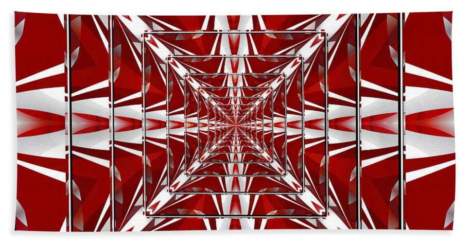 Fractal Art Hand Towel featuring the digital art Fractal Reflections by Mario Carini