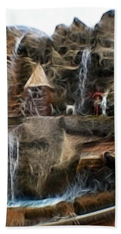 Abstract Hand Towel featuring the photograph Fractalius Island In The Sun by Doc Braham