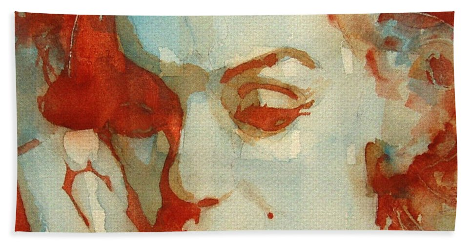 Marilyn Monroe Bath Towel featuring the painting Fragile by Paul Lovering