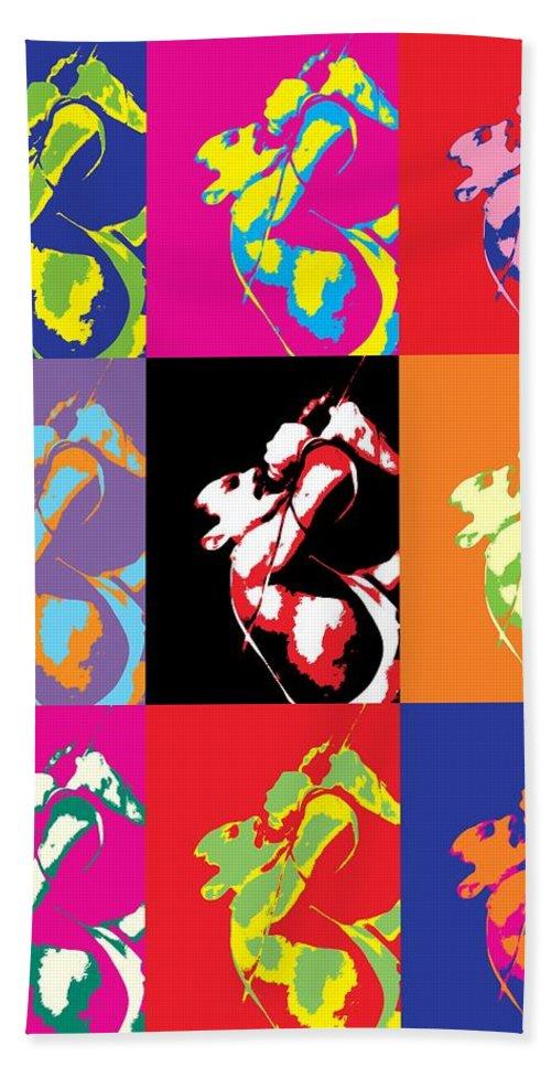 Freddie Mercury Queen Bath Towel featuring the mixed media Freddie Mercury Pop Art by Dan Sproul