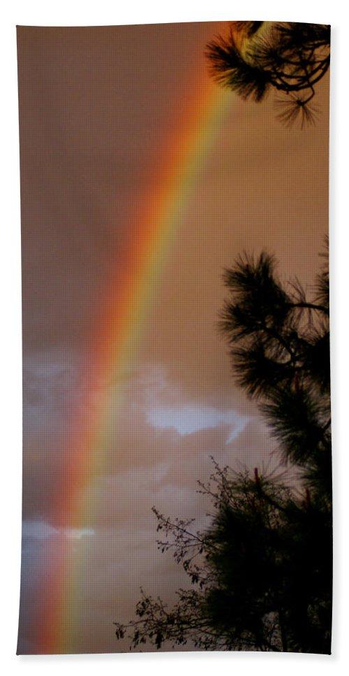 Rainbow Bath Sheet featuring the photograph Free Rainbow 2 by Ben Upham III