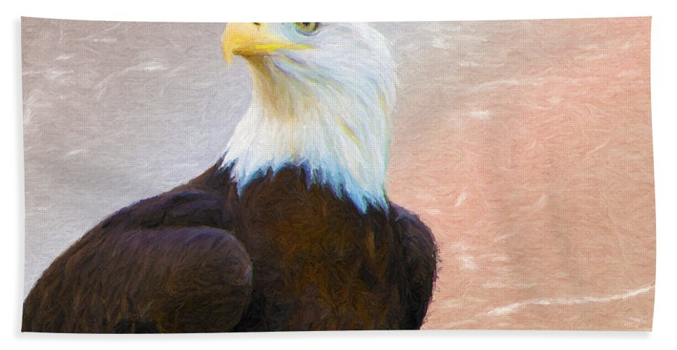 4th Hand Towel featuring the painting Freedom Flyer by Jeffrey Kolker