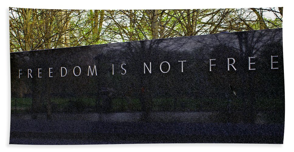 Washington D.c. Hand Towel featuring the photograph Freedom Is Not Free by Pablo Rosales