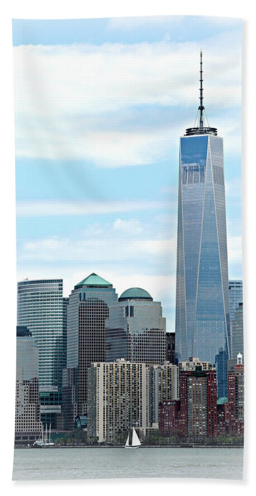 9-11 Bath Sheet featuring the photograph Freedom Rising by Stephen Stookey
