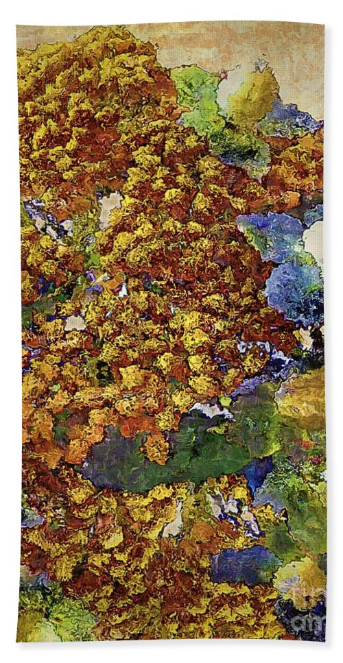 Tansy Hand Towel featuring the painting French Country Print by RC DeWinter