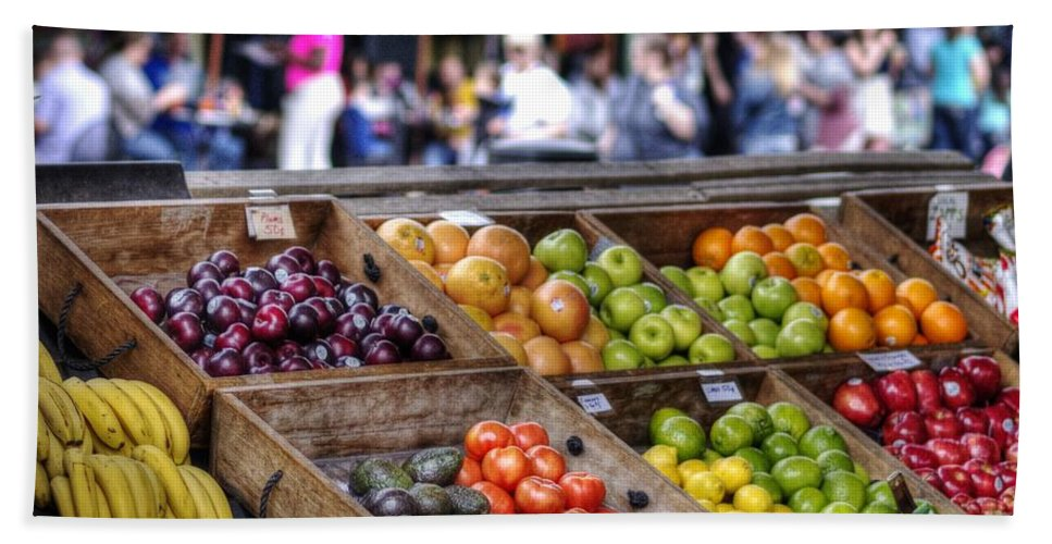 French Market Hand Towel featuring the photograph French Market by William Morgan