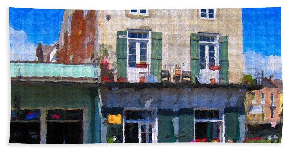 French Quarter Hand Towel featuring the photograph French Quarter Stroll New Orleans by Rebecca Korpita