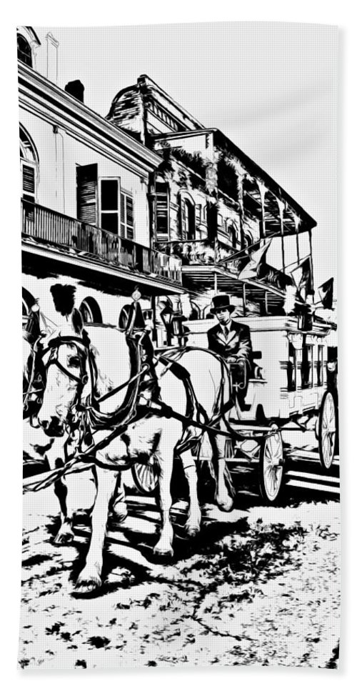 French Quarter Hand Towel featuring the photograph French Quarter - The Final Ride by Steve Harrington