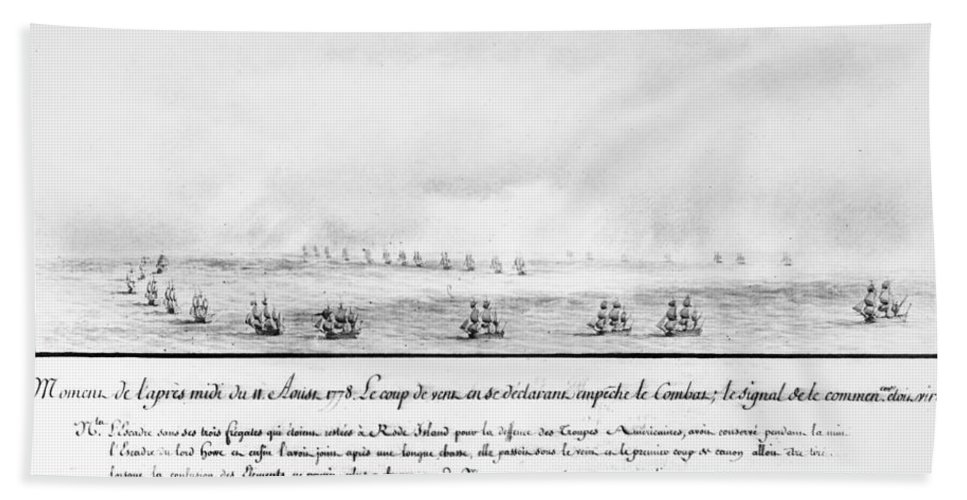 1778 Hand Towel featuring the photograph French Squadron, 1778 by Granger