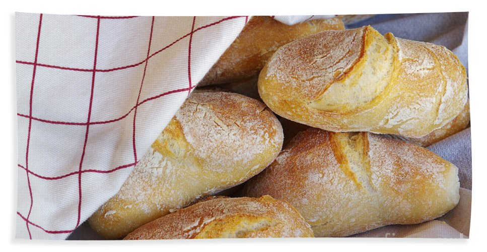 Background Hand Towel featuring the photograph Fresh Bread by Carlos Caetano