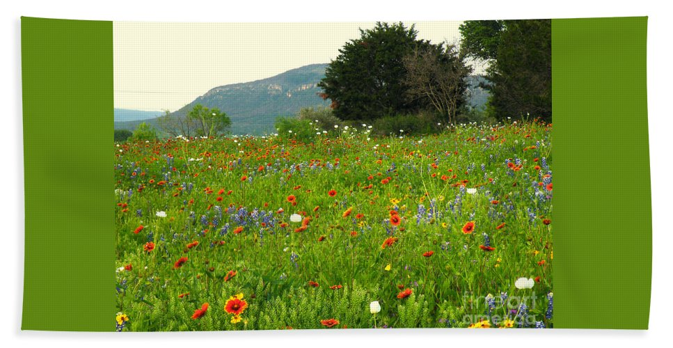 Texas Hill Country Bath Sheet featuring the photograph Fresh Flowers by Joe Jake Pratt