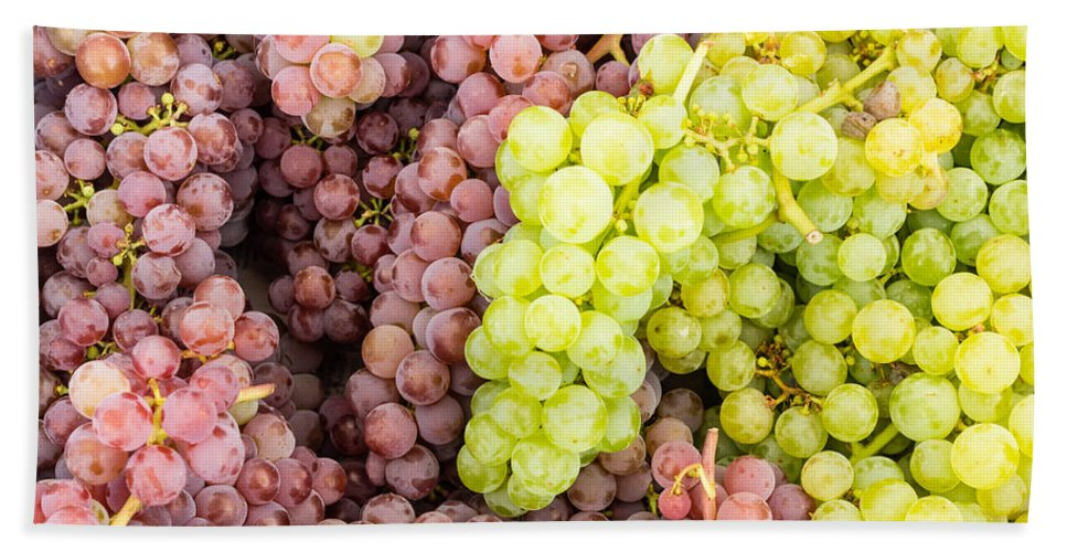 Agriculture Bath Sheet featuring the photograph Fresh Grapes On Display by John Trax