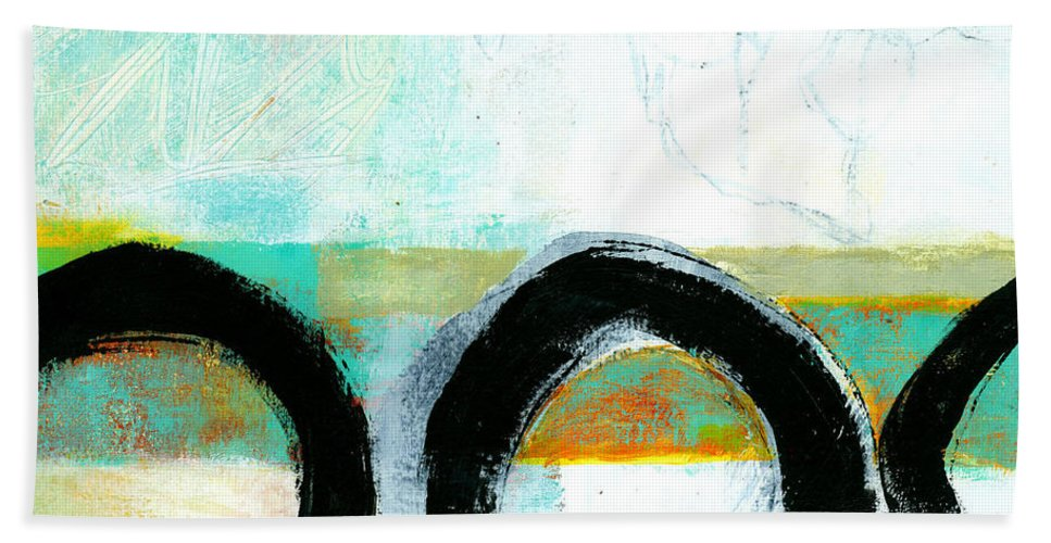 8�x8� Bath Towel featuring the painting Fresh Paint #4 by Jane Davies