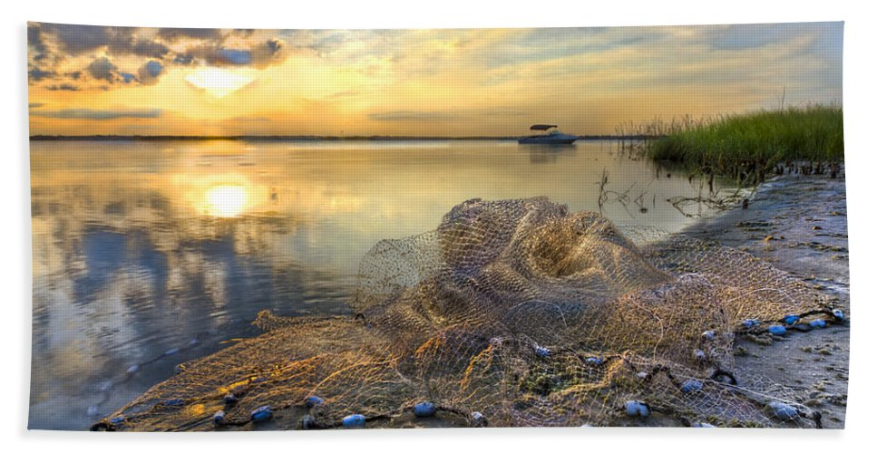 Clouds Hand Towel featuring the photograph Fresh Water by Debra and Dave Vanderlaan