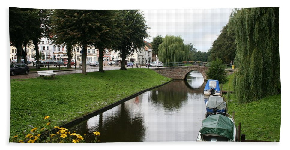 Town Canal Bath Sheet featuring the photograph Friedrichstadt - Germany by Christiane Schulze Art And Photography