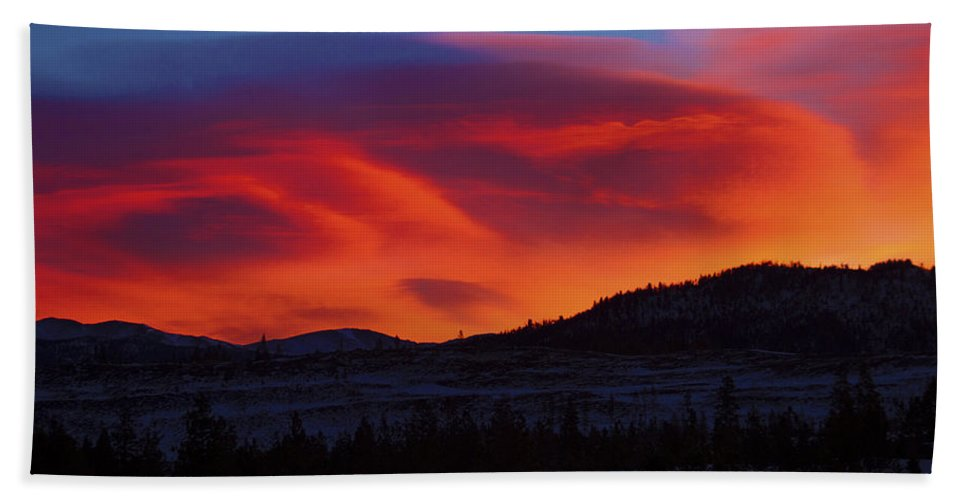 Sun Bath Sheet featuring the photograph Frisco Sunrise by Terry Fiala