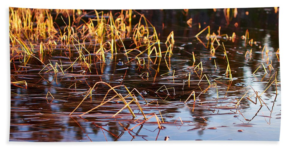 Lehto Bath Sheet featuring the photograph Froggy Sunset by Jouko Lehto
