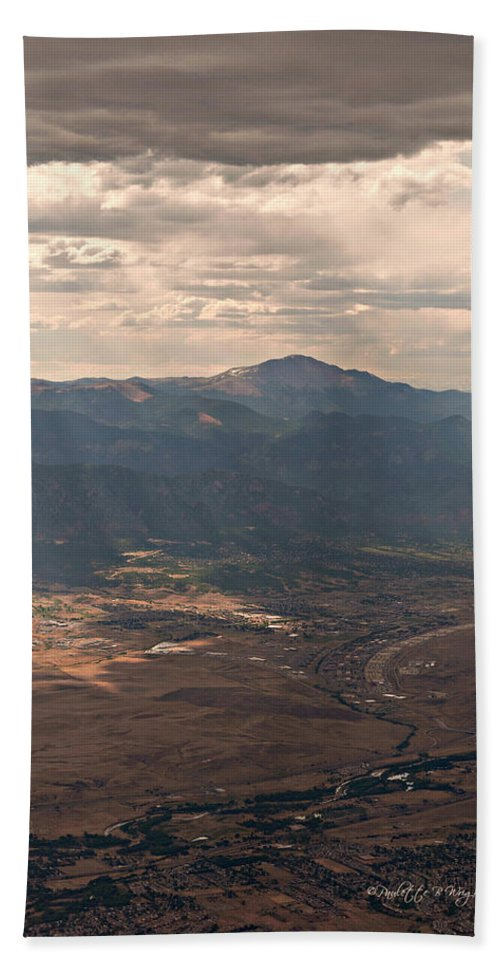 Featured Hand Towel featuring the photograph From A Distance by Paulette B Wright
