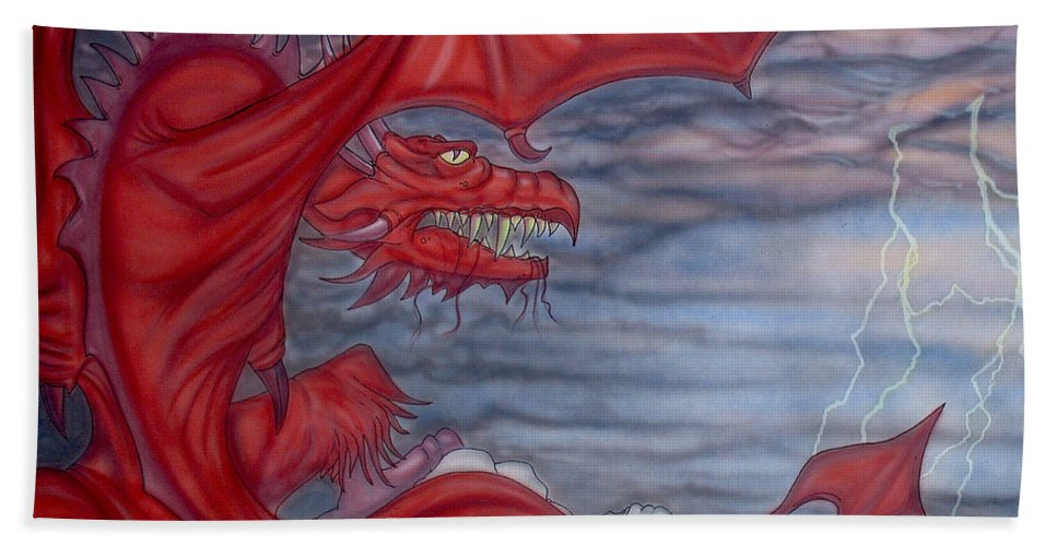 Air Brush Bath Sheet featuring the painting From Creation by Ryan Burton