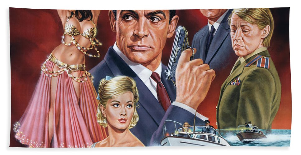 Portrait Hand Towel featuring the painting From Russia With Love by Dick Bobnick